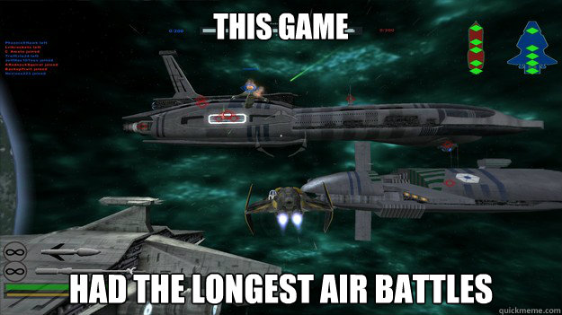 This game had the longest air battles