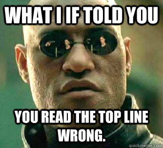 what i if told you you read the top line wrong. - what i if told you you read the top line wrong.  Matrix Morpheus