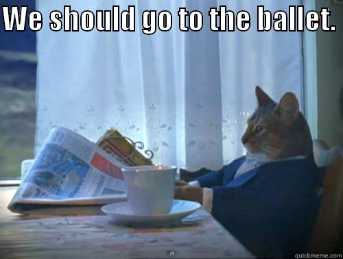 ballet.  - WE SHOULD GO TO THE BALLET.   The One Percent Cat