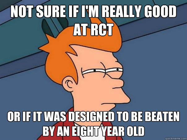 Not sure if I'm really good at RCT Or if it was designed to be beaten by an eight year old - Not sure if I'm really good at RCT Or if it was designed to be beaten by an eight year old  Misc