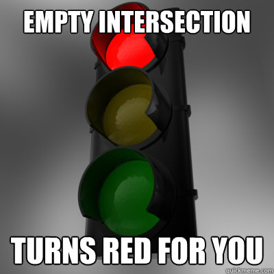 Empty intersection Turns red for you