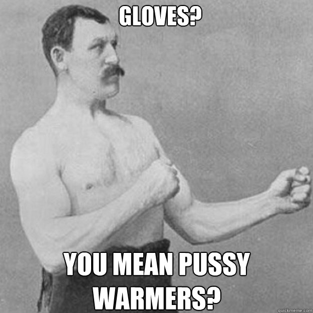 Gloves? You mean pussy warmers? - Gloves? You mean pussy warmers?  Misc