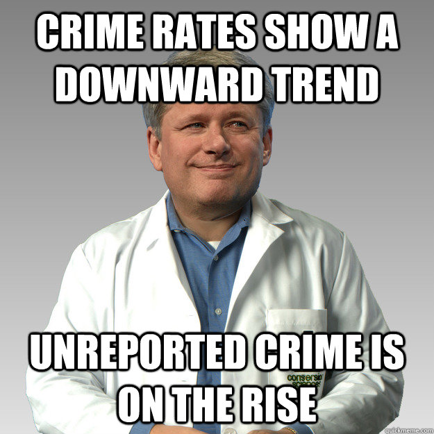 Crime rates show a downward trend unreported crime is on the rise