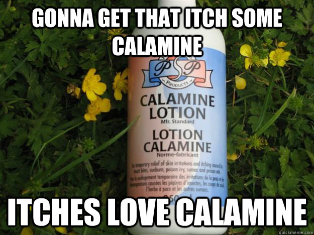 Gonna get that itch some calamine itches love calamine - Gonna get that itch some calamine itches love calamine  Misc