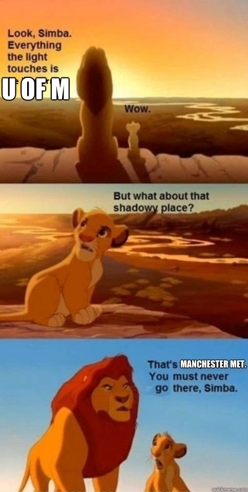 U of M Manchester Met.   - U of M Manchester Met.    Everything the Light Touches