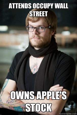 Attends Occupy Wall Street Owns Apple's stock - Attends Occupy Wall Street Owns Apple's stock  Hipster Barista