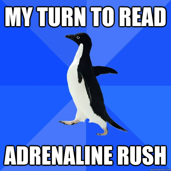My turn to read Adrenaline Rush - My turn to read Adrenaline Rush  Socially Awkward Penguin