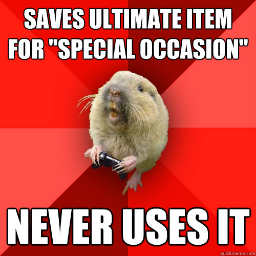 Saves ultimate item for