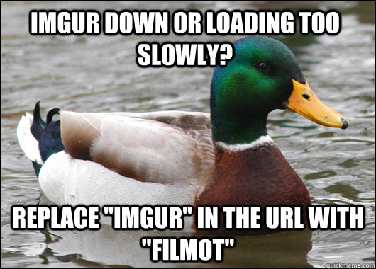 imgur down or loading too slowly? replace