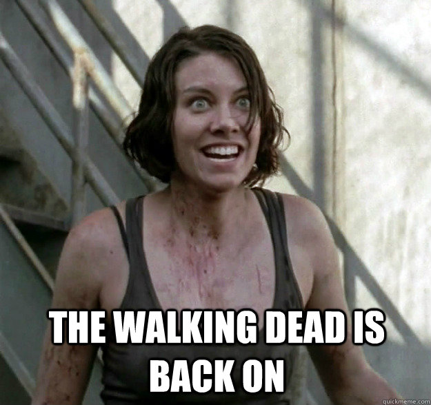 THE WALKING DEAD IS BACK ON