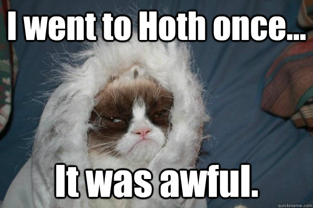 I went to Hoth once... It was awful. - I went to Hoth once... It was awful.  grumpy cat hoth