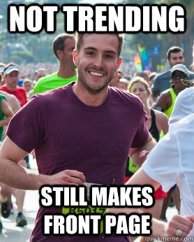 Not trending Still makes  front page - Not trending Still makes  front page  Ridiculously photogenic guy
