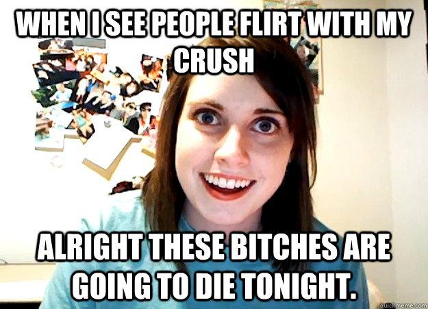 never flirt with my girlfriend again