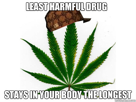 least harmful drug stays in your body the longest