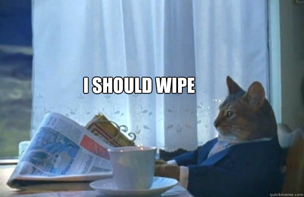 i should wipe - i should wipe  Sophisticated Cat