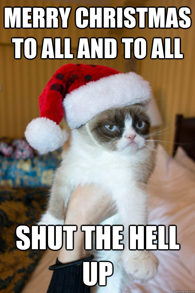 Merry Christmas to all and to all shut the hell up - Grumpy xmas ...