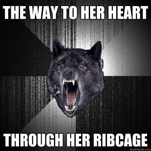 The way to her heart through her ribcage - The way to her heart through her ribcage  Insanity Wolf