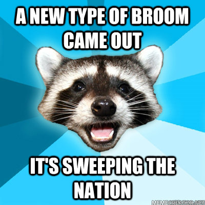A new type of broom came out it's sweeping the nation