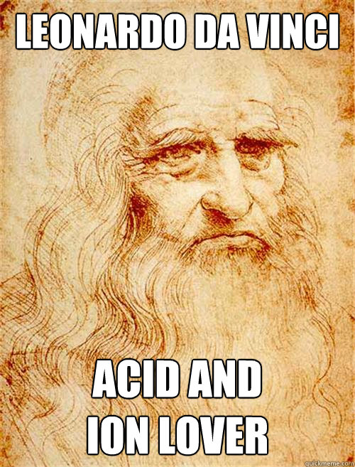 Leonardo Da Vinci Acid and  ion lover  Historic Anagrams