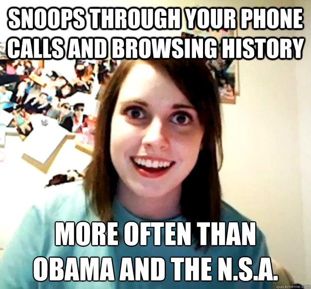 SNOOPS THROUGH YOUR PHONE CALLS AND BROWSING HISTORY MORE OFTEN THAN  OBAMA AND THE N.S.A. - SNOOPS THROUGH YOUR PHONE CALLS AND BROWSING HISTORY MORE OFTEN THAN  OBAMA AND THE N.S.A.  Misc