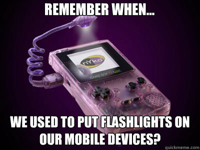 Remember When... We used to put flashlights on our mobile devices? - Remember When... We used to put flashlights on our mobile devices?  Flash Boy