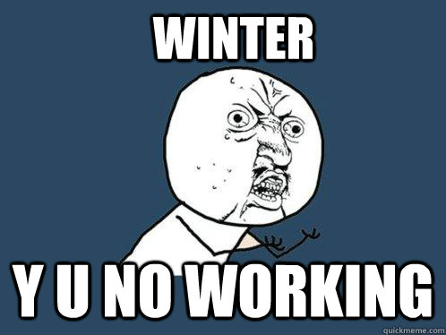 winter y u no working - winter y u no working  Y U No