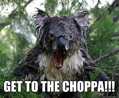 GET TO THE CHOPPA!!!  -  GET TO THE CHOPPA!!!   Angry Koala