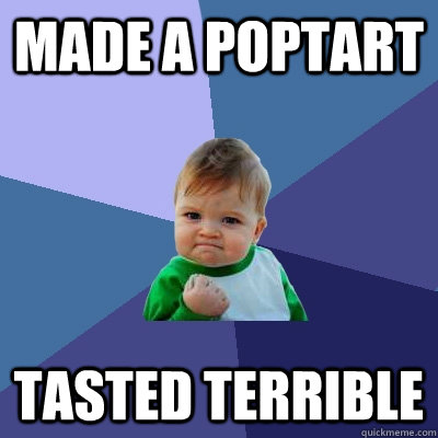 made a poptart tasted terrible - made a poptart tasted terrible  Success Kid