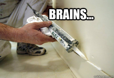 Brains The Caulking Dead Quickmeme