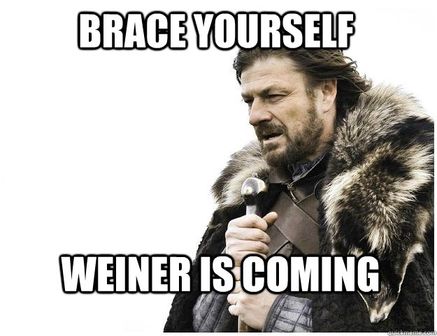 Brace yourself Weiner is coming - Brace yourself Weiner is coming  Imminent Ned