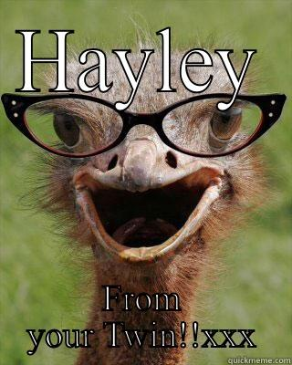 HAYLEY FROM YOUR TWIN!!XXX Judgmental Bookseller Ostrich