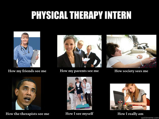 Physical Therapy Intern  How they see me