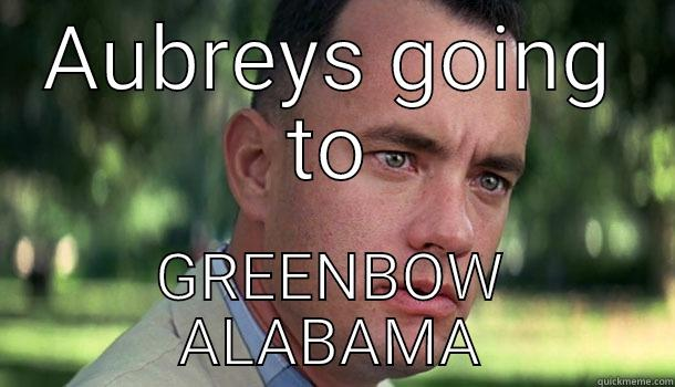 AUBREYS GOING TO GREENBOW ALABAMA Offensive Forrest Gump