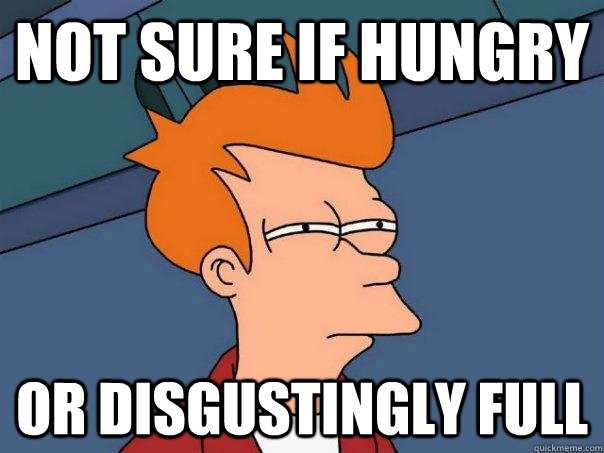 Not sure if hungry or disgustingly full - Not sure if hungry or disgustingly full  Futurama Fry