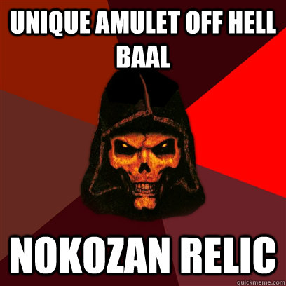 Unique Amulet off Hell Baal Nokozan Relic