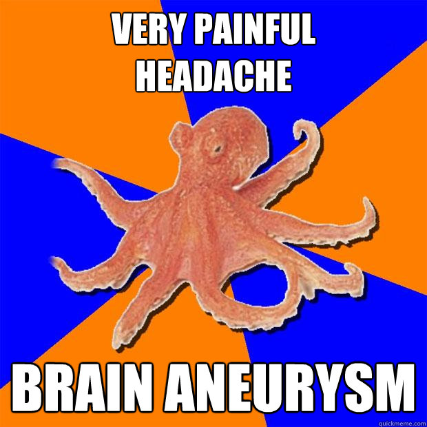 Very painful  headache brain aneurysm  Online Diagnosis Octopus