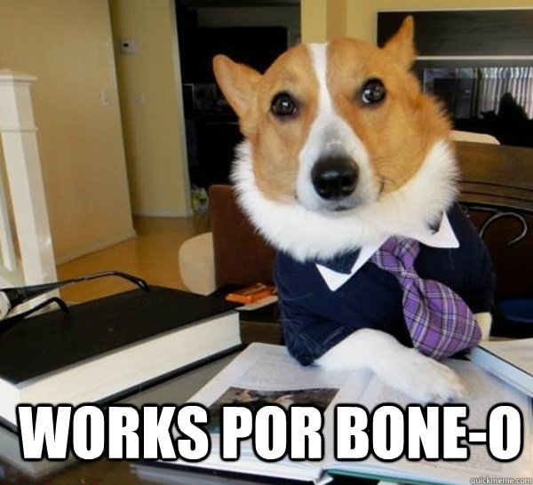 works por bone-o -  works por bone-o  Lawyer Dog