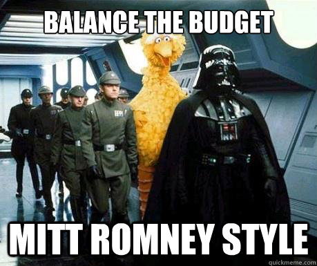 Balance The Budget Mitt Romney Style  Big Bird