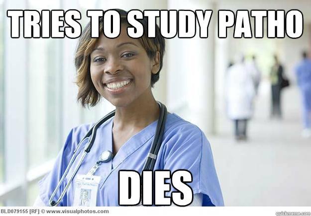 Tries to study patho Dies