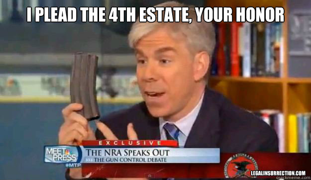 I plead the 4th Estate, Your Honor  LegalInsurrection.com - I plead the 4th Estate, Your Honor  LegalInsurrection.com  David Gregorys Privilege