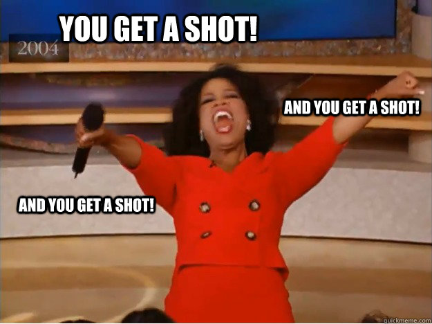 You get a shot!  and you get a shot! and you get a shot! - You get a shot!  and you get a shot! and you get a shot!  oprah you get a car