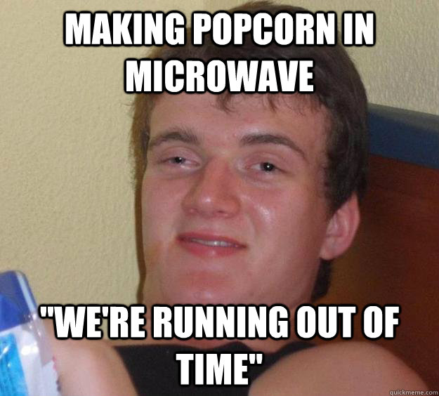 making popcorn in microwave