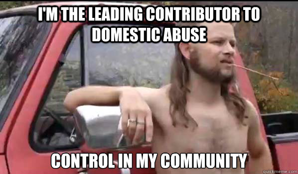 I'm the leading contributor to domestic abuse control in my community