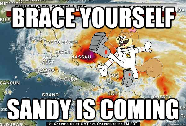 Brace Yourself Sandy is coming