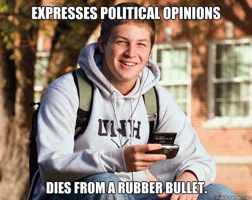 Image result for Rubber bullet funny meme