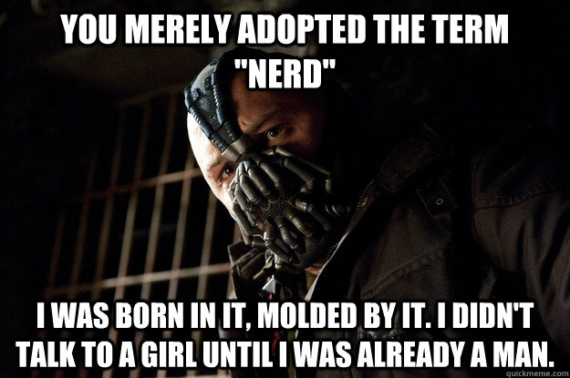You merely adopted the term