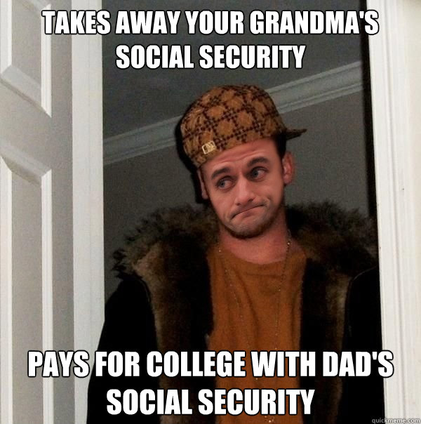 Takes Away Your Grandma's Social Security Pays For College With Dad's Social Security