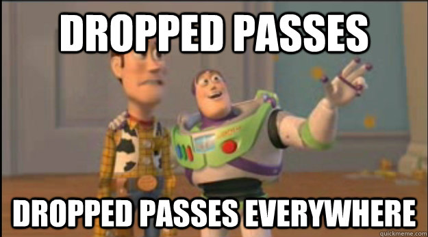 dropped passes dropped passes everywhere