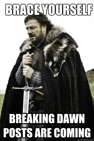 Brace yourself breaking dawn posts are coming