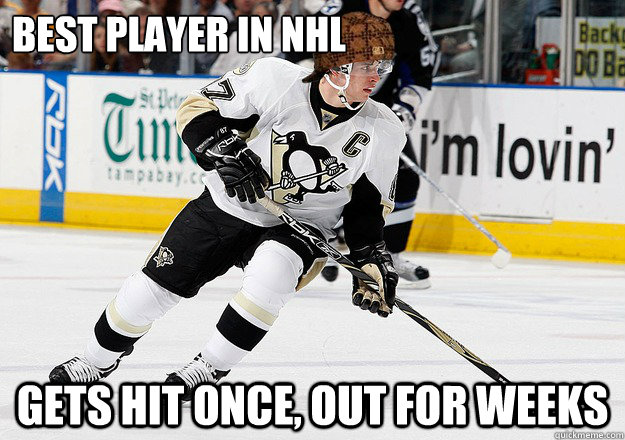 Best Player in NHL Gets hit once, out for weeks